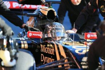 World © Octane Photographic Ltd. Lotus F1 Team E23 Hybrid – Romain Grosjean. Sunday 22nd February 2015, F1 Winter testing, Circuit de Catalunya, Barcelona, Spain, Day 4. Digital Ref : 1191LB1D9434