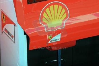 World © Octane Photographic Ltd. Scuderia Ferrari SF15-T - pit box. Sunday 22nd February 2015, F1 Winter test #2, Circuit de Barcelona, Catalunya, Spain, Day 4. Digital Ref: 1191LB1D9540