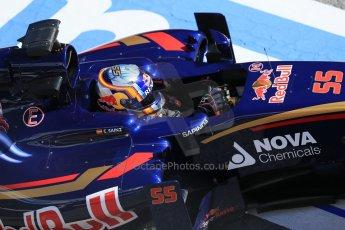 World © Octane Photographic Ltd. Scuderia Toro Rosso STR10 – Carlos Sainz Jnr. Sunday 22nd February 2015, F1 Winter test #2, Circuit de Barcelona, Catalunya, Spain, Day 4. Digital Ref: 1191LB1D9569