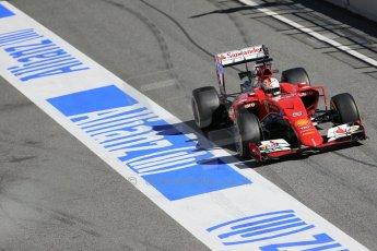 World © Octane Photographic Ltd. Scuderia Ferrari SF15-T– Sebastian Vettel. Sunday 22nd February 2015, F1 Winter test #2, Circuit de Barcelona, Catalunya, Spain, Day 4. Digital Ref: 1191LB1D9582