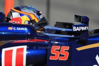 World © Octane Photographic Ltd. Scuderia Toro Rosso STR10 – Carlos Sainz Jnr. Sunday 22nd February 2015, F1 Winter test #2, Circuit de Barcelona, Catalunya, Spain, Day 4. Digital Ref: