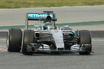 World © Octane Photographic Ltd. Mercedes AMG Petronas F1 W06 Hybrid – Nico Rosberg. Sunday 1st March 2015, F1 Winter test #3, Circuit de Barcelona-Catalunya, Spain Test 2 Day 4. Digital Ref: 1195CB1L3783