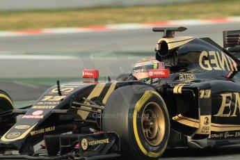 World © Octane Photographic Ltd. Lotus F1 Team E23 Hybrid – Pastor Maldonado. Sunday 1st March 2015, F1 Winter test #3, Circuit de Barcelona-Catalunya, Spain Test 2 Day 4. Digital Ref: 1195CB1L3878