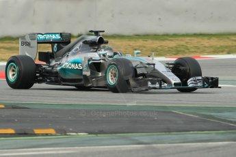 World © Octane Photographic Ltd. Mercedes AMG Petronas F1 W06 Hybrid – Nico Rosberg. Sunday 1st March 2015, F1 Winter test #3, Circuit de Barcelona-Catalunya, Spain Test 2 Day 4. Digital Ref: 1195CB1L4001