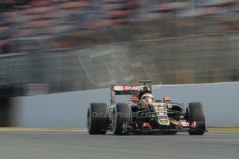 World © Octane Photographic Ltd. Lotus F1 Team E23 Hybrid – Pastor Maldonado. Sunday 1st March 2015, F1 Winter test #3, Circuit de Barcelona-Catalunya, Spain Test 2 Day 4. Digital Ref: 1195CB1L4247