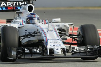 World © Octane Photographic Ltd. Williams Martini Racing FW37 – Valtteri Bottas. Sunday 1st March 2015, F1 Winter test #3, Circuit de Barcelona-Catalunya, Spain Test 2 Day 4. Digital Ref: 1195CB1L4268