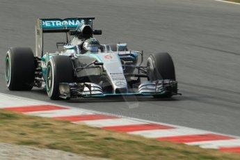 World © Octane Photographic Ltd. Mercedes AMG Petronas F1 W06 Hybrid – Nico Rosberg. Sunday 1st March 2015, F1 Winter test #3, Circuit de Barcelona-Catalunya, Spain Test 2 Day 4. Digital Ref: 1195CB1L4346