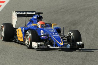 World © Octane Photographic Ltd. Sauber F1 Team C34-Ferrari – Felipe Nasr. Sunday 1st March 2015, F1 Winter test #3, Circuit de Barcelona-Catalunya, Spain Test 2 Day 4. Digital Ref: 1195CB1L4572