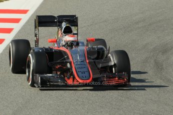 World © Octane Photographic Ltd. McLaren Honda MP4/30 – Jenson Button. Saturday. Sunday 1st March 2015, F1 Winter test #3, Circuit de Barcelona-Catalunya, Spain Test 2 Day 4. Digital Ref: 1195CB1L4582