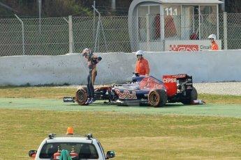 World © Octane Photographic Ltd. Scuderia Toro Rosso STR10 – Max Verstappen. Sunday 1st March 2015, F1 Winter test #3, Circuit de Barcelona-Catalunya, Spain Test 2 Day 4. Digital Ref: 1195CB1L4836