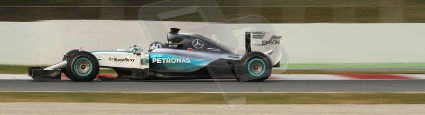 World © Octane Photographic Ltd. Mercedes AMG Petronas F1 W06 Hybrid – Nico Rosberg. Sunday 1st March 2015, F1 Winter test #3, Circuit de Barcelona-Catalunya, Spain Test 2 Day 4. Digital Ref: 1195CB7B1410