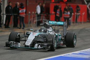 World © Octane Photographic Ltd. Mercedes AMG Petronas F1 W06 Hybrid – Nico Rosberg. Sunday 1st March 2015, F1 Winter test #3, Circuit de Barcelona-Catalunya, Spain Test 2 Day 4. Digital Ref : 1195LB1D3345