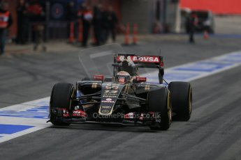 World © Octane Photographic Ltd. Lotus F1 Team E23 Hybrid – Pastor Maldonado. Sunday 1st March 2015, F1 Winter test #3, Circuit de Barcelona-Catalunya, Spain Test 2 Day 4. Digital Ref : 1195LB1D3395