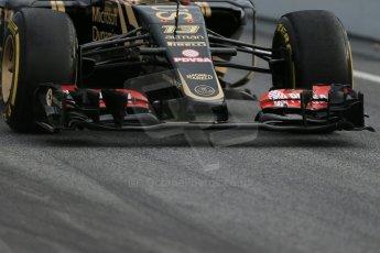 World © Octane Photographic Ltd. Lotus F1 Team E23 Hybrid – Pastor Maldonado. Sunday 1st March 2015, F1 Winter test #3, Circuit de Barcelona-Catalunya, Spain Test 2 Day 4. Digital Ref : 1195LB1D3560