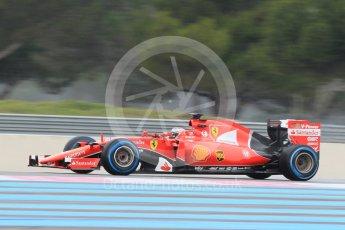 World © Octane Photographic Ltd. Pirelli wet tyre test, Paul Ricard, France. Monday 25th January 2016. Ferrari SF15-T – Kimi Raikkonen. Digital Ref: 1498CB1D8534