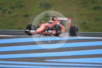World © Octane Photographic Ltd. Pirelli wet tyre test, Paul Ricard, France. Monday 25th January 2016. Ferrari SF15-T – Kimi Raikkonen. Digital Ref: 1498CB1D8838