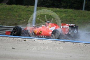 World © Octane Photographic Ltd. Pirelli wet tyre test, Paul Ricard, France. Monday 25th January 2016. Ferrari SF15-T – Kimi Raikkonen. Digital Ref: 1498CB1D8847
