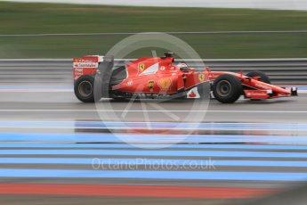 World © Octane Photographic Ltd. Pirelli wet tyre test, Paul Ricard, France. Monday 25th January 2016. Ferrari SF15-T – Kimi Raikkonen. Digital Ref: 1498CB1D9026