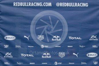 World © Octane Photographic Ltd. Pirelli wet tyre test, Paul Ricard, France. Monday 25th January 2016. Red Bull Racing logo. Digital Ref: 1498CB7D5090