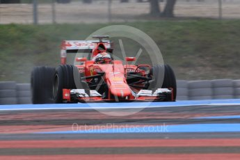 World © Octane Photographic Ltd. Pirelli wet tyre test, Paul Ricard, France. Monday 25th January 2016. Ferrari SF15-T – Kimi Raikkonen. Digital Ref: