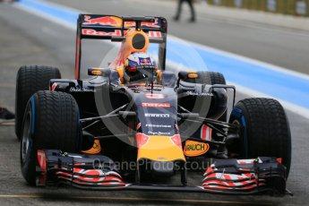 World © Octane Photographic Ltd. Pirelli wet tyre test, Paul Ricard, France. Monday 25th January 2016. Red Bull Racing RB11 – Daniel Ricciardo. Digital Ref: 1498LB1D5484