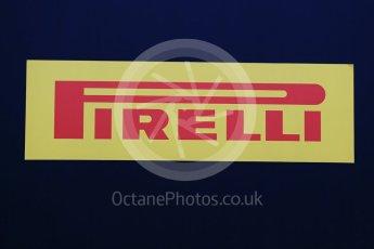 World © Octane Photographic Ltd. Pirelli wet tyre test, Paul Ricard, France. Monday 25th January 2016. Pirelli logo. Digital Ref: 1498LB1D5534