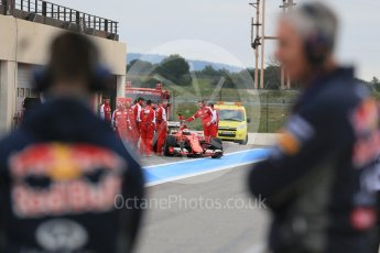 World © Octane Photographic Ltd. Pirelli wet tyre test, Paul Ricard, France. Monday 25th January 2016. Ferrari SF15-T – Kimi Raikkonen. Digital Ref: 1498LB1D5550