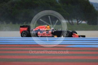 World © Octane Photographic Ltd. Pirelli wet tyre test, Paul Ricard, France. Monday 25th January 2016. Red Bull Racing RB11 – Daniel Ricciardo. Digital Ref: 1498LB5D5273
