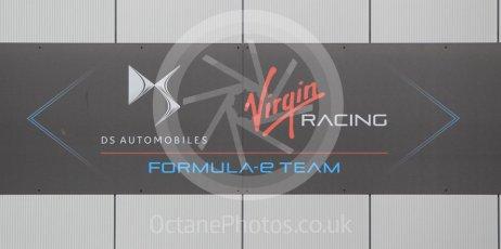 World © Octane Photographic Ltd. 5th February 2016 – Donington Park Formula e HQ. Virgin Racing Formula e team logo. Digital Ref : 1501CB1D0482