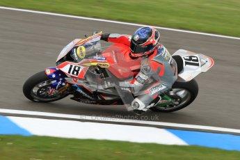 © Octane Photographic Ltd. 2012 World Superbike Championship – European GP – Donington Park. Friday 11th May 2012. WSBK Friday Qualifying practice. Mark Aitchison - BMW S1000RR. Digital Ref : 0330cb7d1405