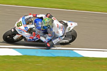 © Octane Photographic Ltd. 2012 World Superbike Championship – European GP – Donington Park. Friday 11th May 2012. WSBK Friday Qualifying practice. Chaz Davies - Aprillia RSV4 Factory. Digital Ref : 0330cb7d1480