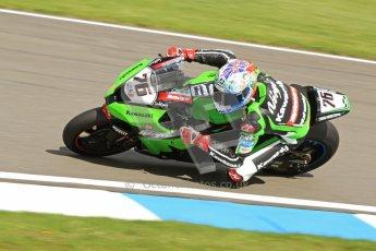 © Octane Photographic Ltd. 2012 World Superbike Championship – European GP – Donington Park. Friday 11th May 2012. WSBK Friday Qualifying practice. Loris Baz - Kawasaki ZX-10R. Digital Ref : 0330cb7d1512