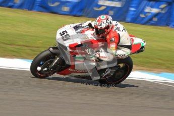 © Octane Photographic Ltd. 2012 World Superbike Championship – European GP – Donington Park. Friday 11th May 2012. WSBK Friday Qualifying practice. Niccolo Canepa - Ducati 1098R. Digital Ref : 0330cb7d1554