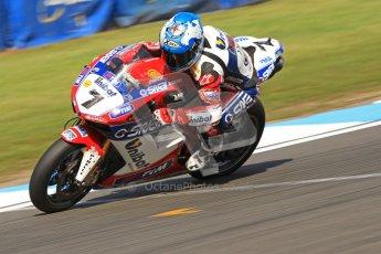 © Octane Photographic Ltd. 2012 World Superbike Championship – European GP – Donington Park. Friday 11th May 2012. WSBK Friday Qualifying practice. Carlos Checa - Ducati 1098R. Digital Ref : 0330cb7d1624