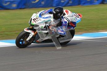 © Octane Photographic Ltd. 2012 World Superbike Championship – European GP – Donington Park. Friday 11th May 2012. WSBK Friday Qualifying practice. Leon Camier - Suzuki GSK-R1000. Digital Ref : 0330cb7d1628