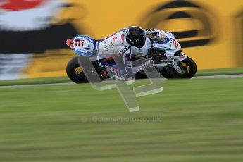 © Octane Photographic Ltd. 2012 World Superbike Championship – European GP – Donington Park. Friday 11th May 2012. WSBK Friday Qualifying practice. Leon camier - Suzuki GSX-R1000. Digital Ref : 0330lw7d4454