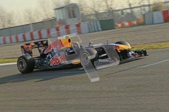 World © Octane Photographic 2011. Formula 1 testing Monday 21st February 2011 Circuit de Catalunya. Red Bull RB7 - Mark Webber. Digital ref : 0012CB1D2646