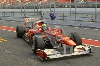 World © Octane Photographic 2011. Formula 1 testing Monday 21st February 2011 Circuit de Catalunya. Ferrari 150° Italia - Felipe Massa. Digital ref : 0012CB1D2710