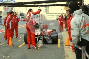 World © Octane Photographic 2011. Formula 1 testing Monday 21st February 2011 Circuit de Catalunya. Ferrari 150° Italia - Felipe Massa. Digital ref : 0012CB1D2720