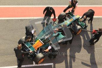 World © Octane Photographic 2011. Formula 1 testing Monday 21st February 2011 Circuit de Catalunya. Lotus T124 - Jarno Trulli. Digital ref : 0012CB5D0276