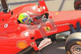World © Octane Photographic 2011. Formula 1 testing Monday 21st February 2011 Circuit de Catalunya. Ferrari 150° Italia - Felipe Massa. Digital ref : 0012CB1D2822