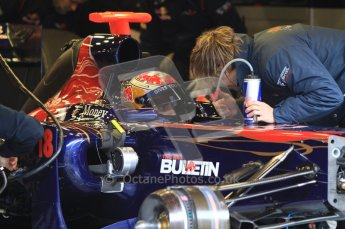 World © Octane Photographic 2011. Formula 1 testing Monday 21st February 2011 Circuit de Catalunya. Toro Rosso STR6 - Sebastien Buemi. Digital ref : 0012LW7D5235