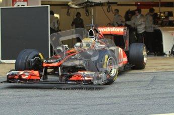 World © Octane Photographic 2011. Formula 1 testing Monday 21st February 2011 Circuit de Catalunya. McLaren MP4/26 - Lewis Hamilton. Digital ref : 0012LW7D5270