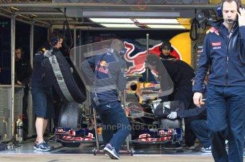 World © Octane Photographic 2011. Formula 1 testing Monday 21st February 2011 Circuit de Catalunya. Red Bull RB7 - Mark Webber. Digital ref : 0012LW7D5282