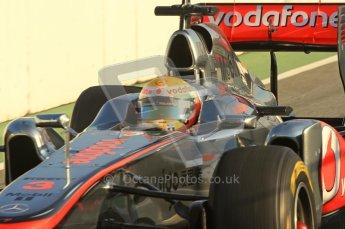 World © Octane Photographic 2011. Formula 1 testing Monday 21st February 2011 Circuit de Catalunya. McLaren MP4/26 - Lewis Hamilton. Digital ref : 0012LW7D5344