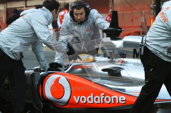 World © Octane Photographic 2011. Formula 1 testing Monday 21st February 2011 Circuit de Catalunya. McLaren MP4/26 - Lewis Hamilton. Digital ref : 0012LW7D5443