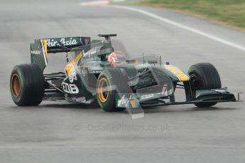 © Octane Photographic 2011. Formula 1 testing Sunday 20th February 2011 Circuit de Catalunya. Lotus T124 - Jarno Trulli. Digital ref : 0010CB1D1173