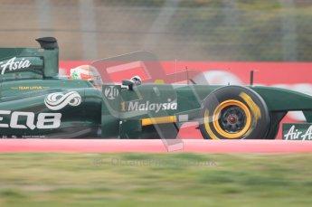 © Octane Photographic 2011. Formula 1 testing Sunday 20th February 2011 Circuit de Catalunya. Lotus T124 - Jarno Trulli. Digital ref : 0010CB1D1407