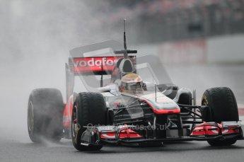 © Octane Photographic 2011. Formula 1 testing Sunday 20th February 2011 Circuit de Catalunya. McLaren MP4/26 - Lewis Hamilton. Digital ref : 0010CB1D1697