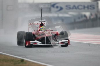 © Octane Photographic 2011. Formula 1 testing Sunday 20th February 2011 Circuit de Catalunya. Ferrari 150° Italia - Felipe Massa. Digital ref : 0010CB1D1721